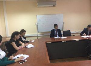 Отчетная встреча Заместителя  Генерального директора по экономике и финансам с работниками структурного подразделения ТОО «Газопровод Бейнеу-Шымкент».
