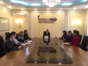 Отчетная встреча Заместителя Генерального директора по поддержке бизнеса с работниками структурных подразделений  ТОО «Газопровод Бейнеу - Шымкент».