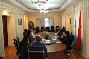 Отчетная встреча Управляющего координатора с работниками структурного подразделения ТОО «Газопровод Бейнеу-Шымкент».