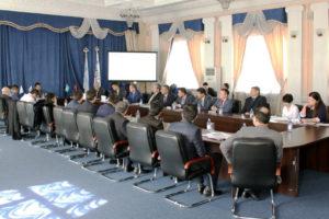 Отчетная встреча Генерального директора Естай С. с коллективом ТОО «Газопровод Бейнеу-Шымкент» по итогам производственно-хозяйственной деятельности Товарищества по итогам 2016 года.