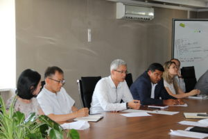 Reporting meeting of Deputy General Director – Deputy PMT Leader with employees of structural subdivisions of Project Management Team of Beineu-Bozoy-Shymkent Gas Pipeline LLP.