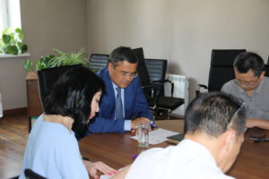 Reporting meeting of Deputy General Director for operation with employees of structural subdivisions of Project Management Team of Beineu-Bozoy-Shymkent Gas Pipeline LLP.