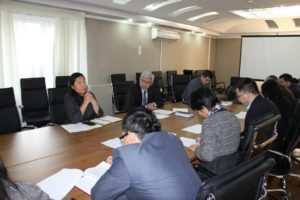 Reporting meeting of Deputy General Director – Deputy PMT Leader with employees of structural subdivisions of Beineu-Shymkent Gas Pipeline LLP Project Management Team (PMT).