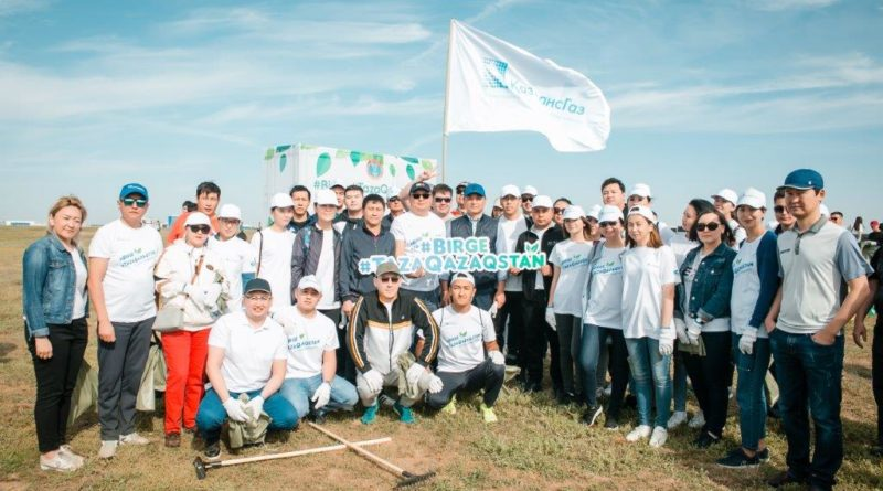 GAS WORKERS IN KAZAKHSTAN PARTICIPATED IN ENVIRONMENTAL ACTION #BIRGE #TAZAQAZAQSTAN